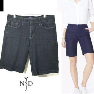 NYDJ Bermuda Denim Blue Lift Tuck Shorts SZ 10
